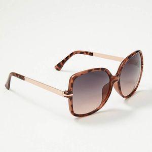 LOFT Brown Tortoiseshell Square Sunglasses